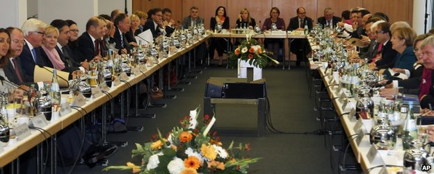 Coalition talks in Berlin, 23 October