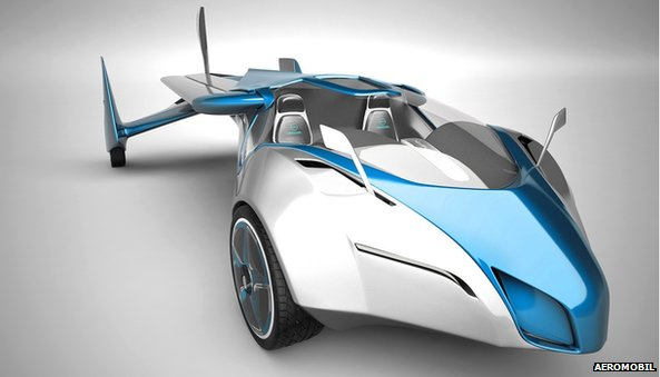 Studio shot of the Aeromobil