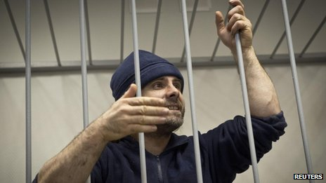 "Greenpeace International activist Iain Rogers of Britain, one of the ""Arctic 30"" detained on piracy charges"