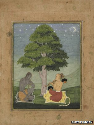 Two yogis under a tree