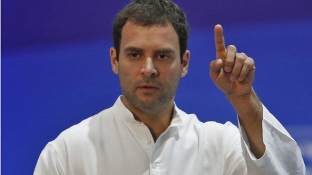 Rahul Gandhi is urging voters to elect his Congress party in the upcoming state and general elections