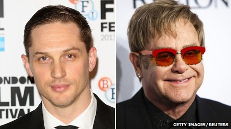 Tom Hardy and Elton John