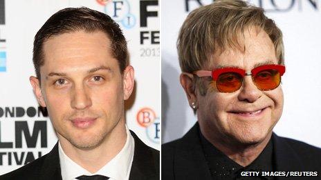 Tom Hardy and Elton John