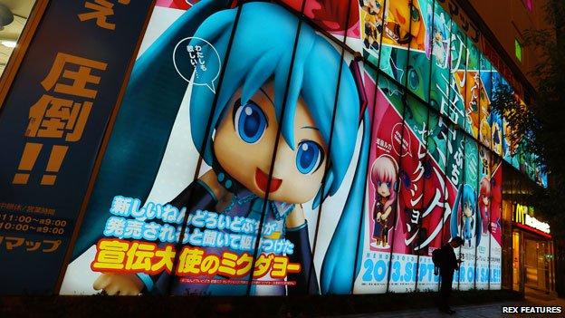 Manga and anime cartoons in Akihabara