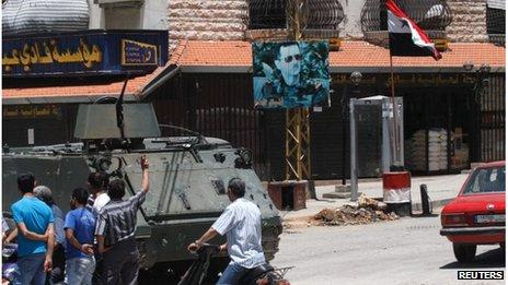 Armoured vehicle in Jabal Muhsin (file photo)