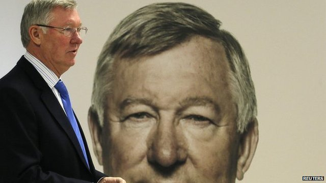 Sir Alex Ferguson at his book signing in Manchester
