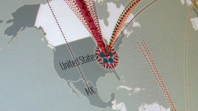 A graphic of the United States