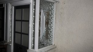 The blasts smashed windows