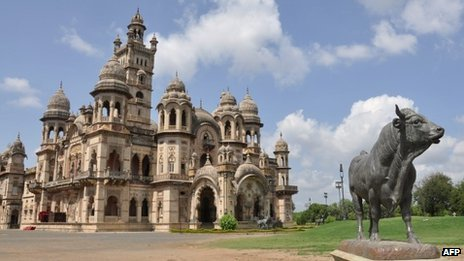The Laxmi Vilash Palace, owned by members of the Gaekwad family, near Vadodara