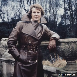 Sir Roger Moore on set during filming for The Persuaders in 1972