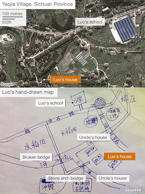 Map drawn by Luo