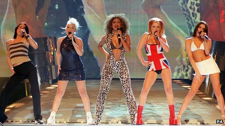 Spice Girls at the Brit Awards 1997