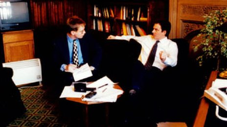 David Cornock interviewing Tony Blair for the Western Mail