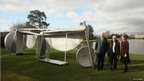 Sir Anthony Caro And The Duke And Duchess Of Devonshire Unveil The Caro At Chatsworth Exhibition