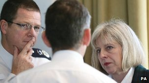 Chief Constable Alex Marshall with Home Secretary Theresa May