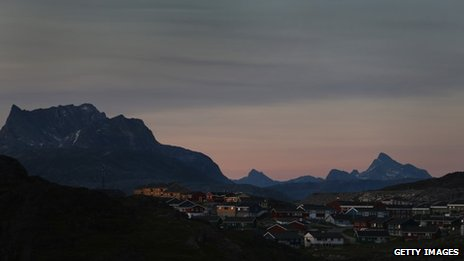 Panorama of Nuuk, the capital of Greenland