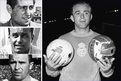 Left, top to bottom: Real Madrid legends Francisco Gento, Raymond Kopa and Ferenc Puskas. Main image: Alfredo di Stefano