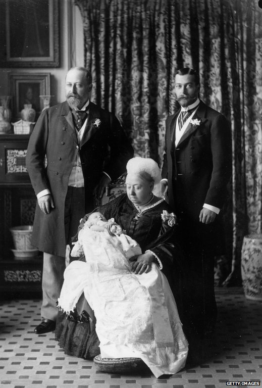 The christening of the future Edward VIII