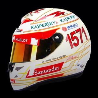 Fernando Alonso's Indian GP helmet