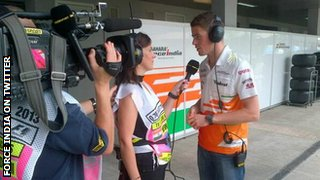 Lee McKenzie and Paul Di Resta