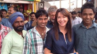 Suzi Perry meeting the locals in India