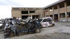 Rikuzentakata City Museum after the tsunami