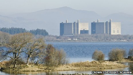 Trawsfynydd power station from the south south west