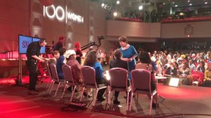 Lyse Doucet chatting to the contributors coming up on World Have Your Say