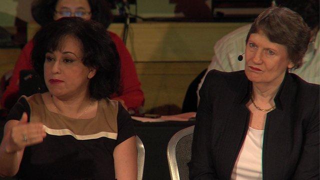 Nervana Mahmoud + Helen Clark