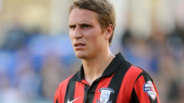 PNE midfielder Nicky Wroe