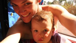 Madeleine Morris with daughter Scarlett