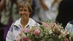Navratilova, Martina - USA tennis player appearing in her last Ladies Final at Wimbledon in 1994