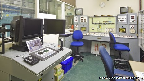Inside the control room of the Resin Solidification Plant