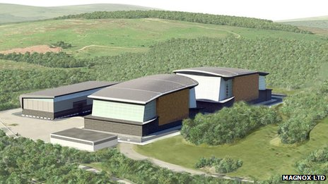 Artist's impression of Trawsfynydd safestore buildings