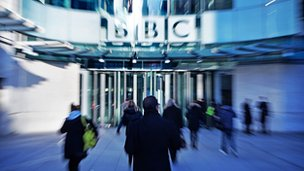 Generic shot of BBC building and staff