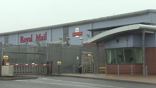 A letter bomb was intercepted at the Royal Mail's Mallusk sorting office