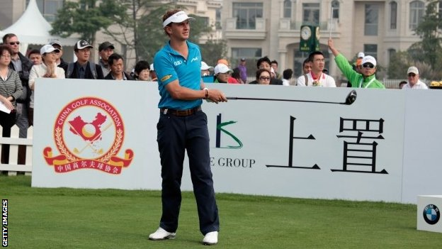 Joost Luiten tees off before pulling out of BMW Masters
