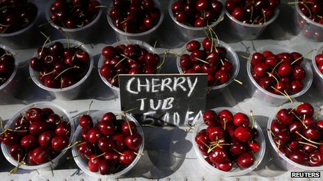Cherries on sale in Sydney