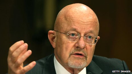 James Clapper talking to a group of people
