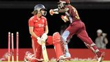 England Women's Natalie Sciver is bowled