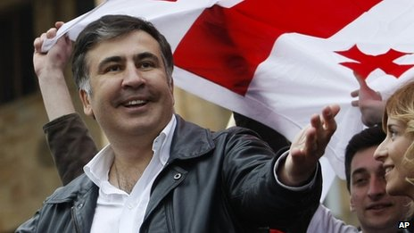 Georgian President Mikhail Saakashvili (April 2013)