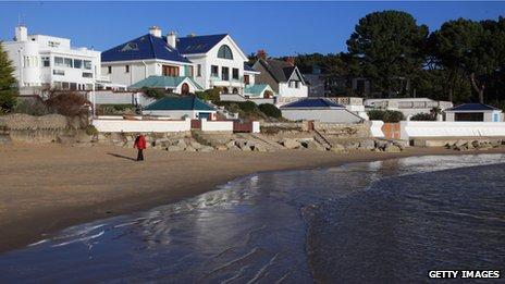 View of Dorset's Sandbanks Peninsula