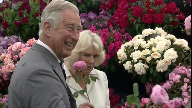 Prince Charles and Camilla at a flower show