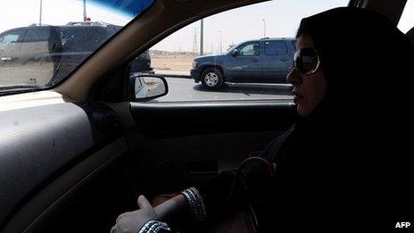 Saudi woman passenger