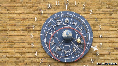 Astronomical clock at Leicester University