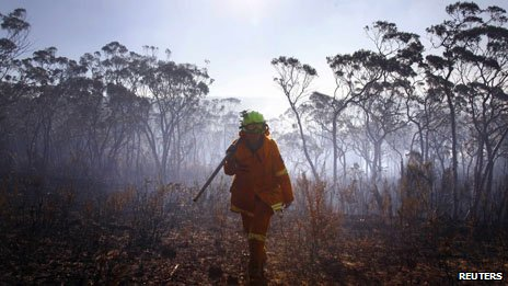 Firefighter in the Blue Mountains