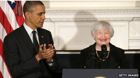 Barack Obama and Janet Yellen