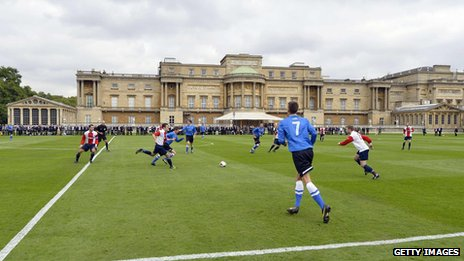 Football match at Buckingham Palace on 7 October 2013