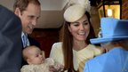 Prince George, his parents and the Queen