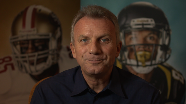 Legendary NFL quarter-back Joe Montana